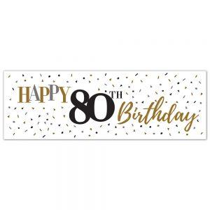 Birthday 80 Classy Banner