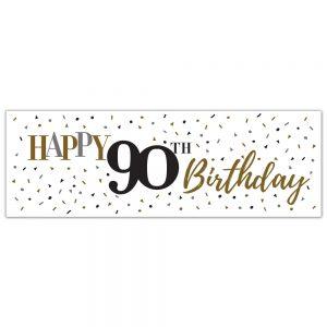 Birthday 90 Classy Banner