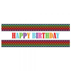 Birthday Color Dots Banner