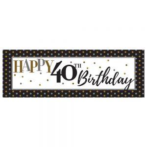 Birthday 40 Elegant Banner