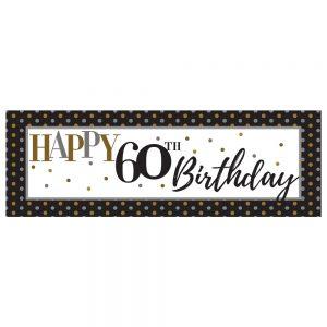 Birthday 60 Elegant Banner