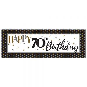 Birthday 70 Elegant Banner