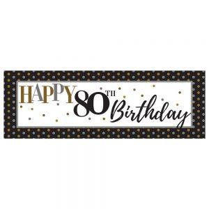 Birthday 80 Elegant Banner