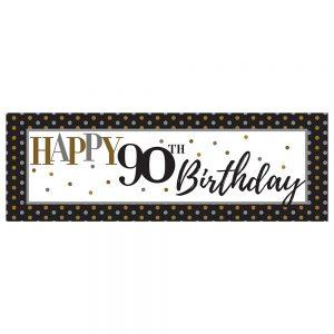 Birthday 90 Elegant Banner