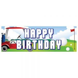 Birthday Golf Banner