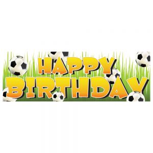 Birthday Soccer Bright Banner