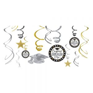 Black Gold SIlver Graduación Espirales