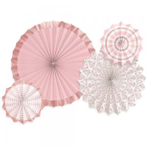 Blush & Rose Gold Paper Fans