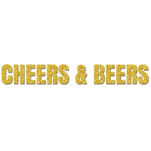 Cheers and Beers Oro – Glitter Banner