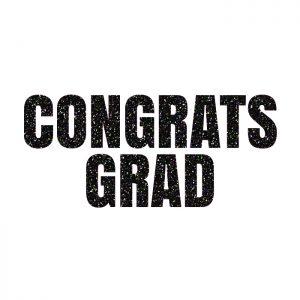 Congrats Grad Negro – Glitter Banner