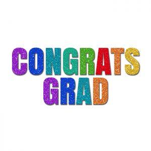 Congrats Grad Colores – Glitter Banner
