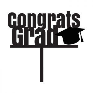 Congrats Grad Bold Topper