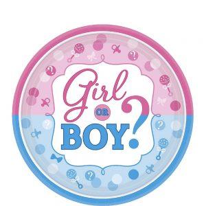 Girl or Boy Gender Reveal Plato Postre