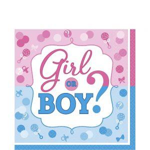 Girl or Boy Gender Reveal Servilleta Lunch