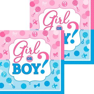 Girl or Boy Gender Reveal Servilleta Coctel