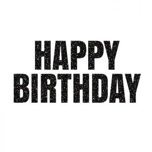 Happy Birthday Negro – Glitter Banner