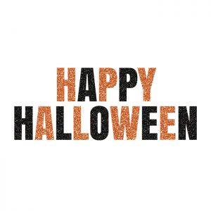 Happy Halloween Blk/Or – Glitter Banner