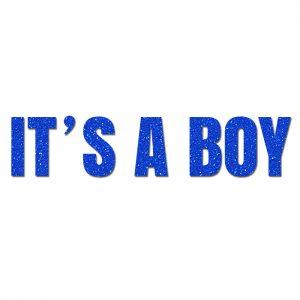 It´s a Boy Azul – Glitter Banner