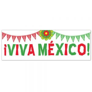 Viva México Red/Green Banner