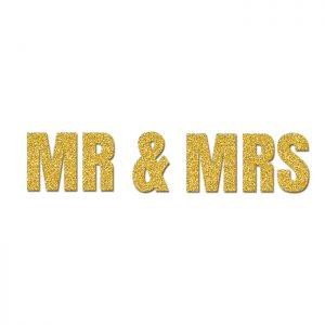 Mrs & Mrs Oro- Glitter Banner