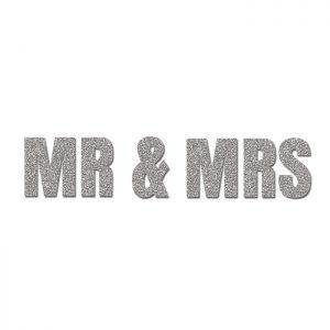 Mrs & Mrs Plata- Glitter Banner