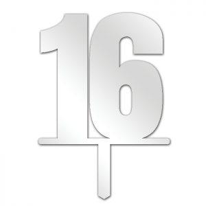 Number 16 Topper