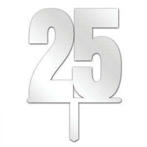 Number 25 Topper
