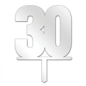 Number 30 Topper