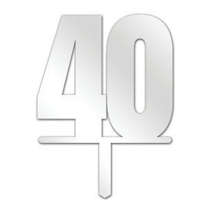 Number 40 Topper