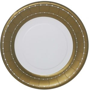 Beaded Gold Plato Lunch