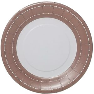 Beaded Rose Gold Plato Lunch