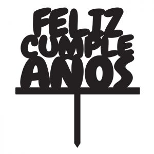 Feliz Cumpeaños Fat Topper