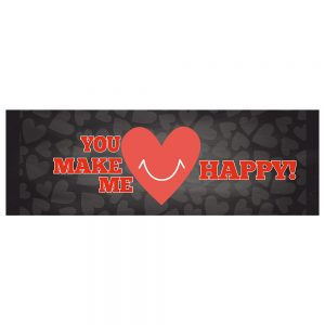 Valentine´s You Make Me Happy Banner