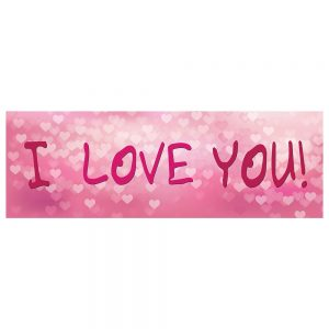 Valentine´s I Love You Pink Banner