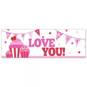 Valentine´s Love You Cupcake Banner