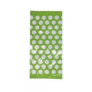 Bolsa Celofán – Verde Limón Dots