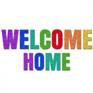 Welcome Home Colores – Glitter Banner