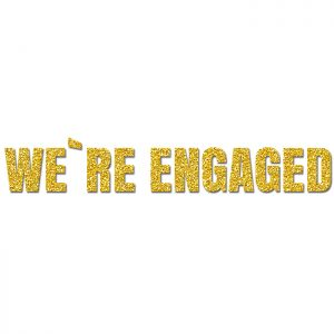 We´re Engaged Oro- Glitter Banner