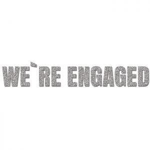 We´re Engaged Plata- Glitter Banner