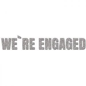 We´re Engaged Plata- Glitter Banner