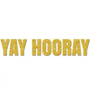 Yay Hooray Oro – Glitter Banner