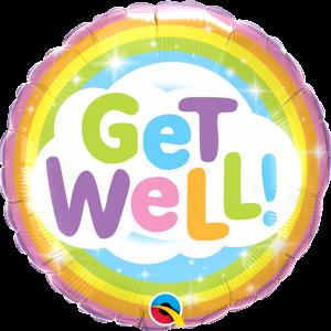Globo Get Well Pastel Rainbow