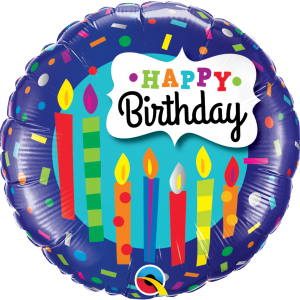Globo Birthday Blue Candles