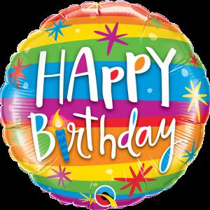 Globo Birthday Happy Colors