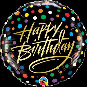 Globo Birthday Black & Dots