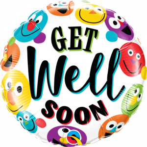 Globo Get Well Happy Faces