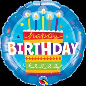 Globo Birthday Blue Cake Candles