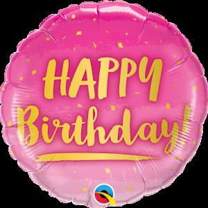 Globo Birthday Pink/Gold