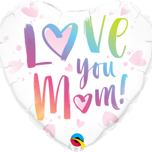Globo Love You Mom Corazòn Blanco