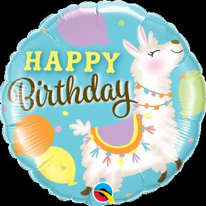 Globo Llama Birthday